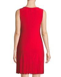 Bebe Red Fringe Hem Solid Dress