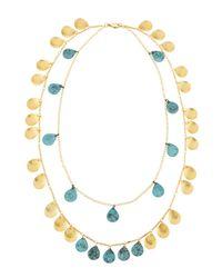 Panacea Blue Double-strand Patina Necklace