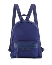 31c5a9859d2aa Lyst - Longchamp Le Pliage Small Nylon Backpack in Blue for Men