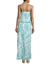 MICHAEL Michael Kors | Blue Side-tie Long Dress Swim Coverup | Lyst