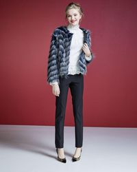 Neiman Marcus - Multicolor Shaggy Faux-fur Jacket - Lyst