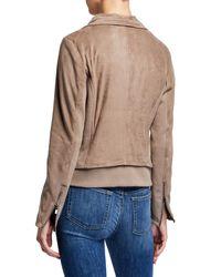 Bagatelle Multicolor Faux-suede Drape Jacket