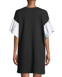 Gracia Black Tiered-sleeve Jersey Dress