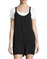 Bishop + Young - Black Gracie Woven Romper - Lyst