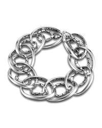 John Hardy Metallic Kali Interlocking Chain Bracelet Size L