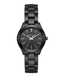 MICHAEL Michael Kors | Black 33mm Mini Slim Runway Bracelet Watch for Men | Lyst