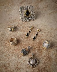 Konstantino - Metallic Diamond Classics Cross Pendant Enhancer - Lyst