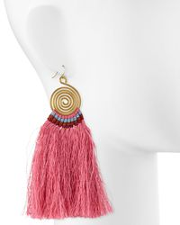 Nakamol - Pink Swirl Drop Earrings W/ Fringe - Lyst