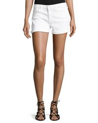 Joe's Jeans - White Rolled-cuff Denim Shorts - Lyst