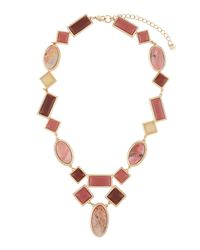 Lydell NYC - Multicolor Berry Mixed Statement Necklace - Lyst