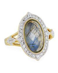 Jude Frances - Metallic Moroccan 18k Diamond & Labradorite Doublet Ring - Lyst
