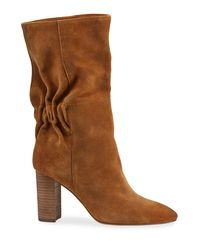 Charles David Black Barrie Slouchy Suede Boots