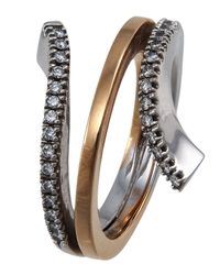 Damiani - Metallic Eden Two-tone Gold Diamond Coil Ring - Lyst