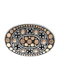 John Hardy Metallic Dot Oval East-west Ring Size 7
