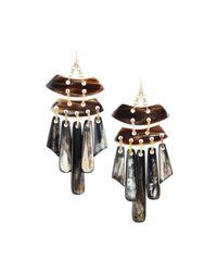 Devon Leigh - Multicolor Statement Horn Chandelier Earrings - Lyst