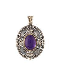 Konstantino - Purple Erato Oval Amethyst Doublet Locket Pendant Enhancer - Lyst