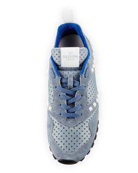 Valentino - Blue Rockstud Perforated Platform Sneaker for Men - Lyst