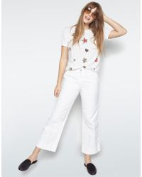 Lauren Moshi - White Kelis Pop Stars Scooped Hem Tee - Lyst