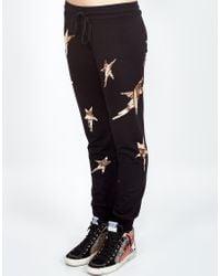 Lauren Moshi Black Jess Foil Scribble Stars