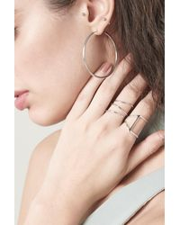 Lavish Alice - Metallic Spiral Sculpture Ring In Sterling Silver - Lyst