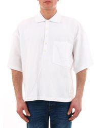 Thom Browne White Oversized Cotton-piqué Polo Shirt for men
