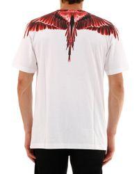 T-Shirt con Ali di Marcelo Burlon in White da Uomo