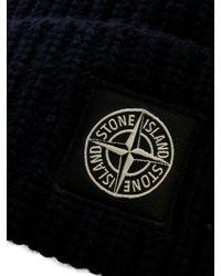 Cappello in Lana Blu di Stone Island in Blue da Uomo