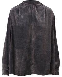 Blusa Velluto Grigio di Stella McCartney in Gray