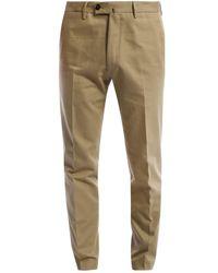 PT01 Natural Cotton Trousers Beige for men