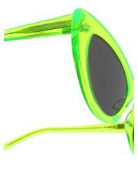 Occhiali Lily Neon di Saint Laurent in Green