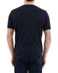 Fine knit short sleeve top di John Smedley in Blue da Uomo