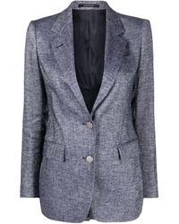 Tagliatore Blue Linen Jacket