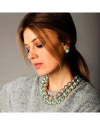 Lele Sadoughi - Blue Crystal Token Stud Earrings - Lyst