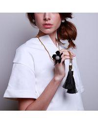 Lele Sadoughi - Multicolor Straw Tassel Necklace - Lyst