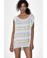 lemlem | Blue Addis Sleeveless Cover-up | Lyst
