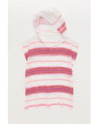 Lemlem | Pink Tabtab Hooded Poncho | Lyst