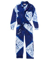 lemlem | Blue Button Up Jumpsuit | Lyst