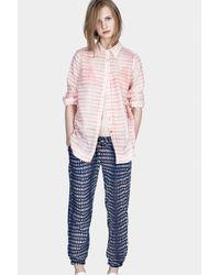 lemlem - Pink Easy Shirt - Lyst