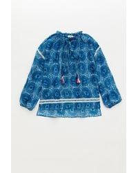 Lemlem - Blue Makena Poet Shirt - Lyst