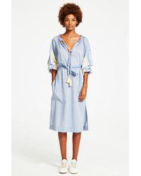 lemlem | Blue Mwali Poet Dress | Lyst