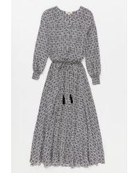 Lemlem - Gray Kafa Maxi Dress - Lyst