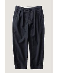 Still By Hand - Blue Multiwool Trouser | Navy - Lyst