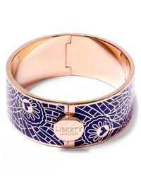 Liberty | Blue Hera Enamel Solid Cuff | Lyst
