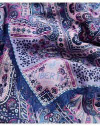 Liberty Blue Lasenby Cashmere And Silk-blend Paisley Scarf