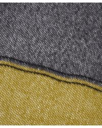 Quinton-chadwick - Gray Waffled Cloud Stripe Scarf - Lyst