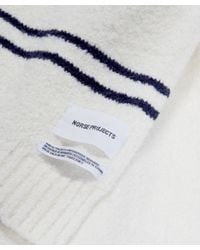 Norse Projects White Winter Cotton Scarf