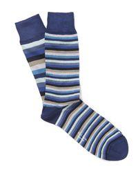 Paul Smith | Blue Odd Stripe Socks for Men | Lyst