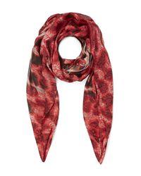 Vivienne Westwood | Red Leopard Lace Print Scarf | Lyst