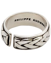 Philippe Audibert - Metallic Fillan Lattice Adjustable Ring - Lyst