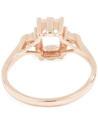 Anna Sheffield - Metallic Rose Gold Bea Rainbow Moonstone Three Stone Ring - Lyst